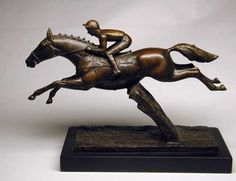 Bronze Horse Sculpture / Equines Race Horses Pack HorseCart Horses Plough Horsess sculpture by artist David Cornell titled: 'DESERT ORCHID'