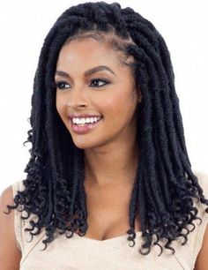 Stylish and trendy hair styles hair products wigs weaves braids half wigs full cap hair lace front hair extension Brazilian hair crochet hairdo Lace Front WigsFreeTress Synthetic Hair Crochet Braids Cuban Gorgeous Loc (Goddess Loc) - June 22 2019 at Box Braids Hairstyles, Try On Hairstyles, My Hairstyle, Trendy Hairstyles, Black Hairstyles, Teenage Hairstyles, Hair Updo, Long Haircuts, Hairstyles Pictures