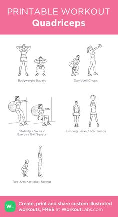 Quadriceps– my custom exercise plan created at WorkoutLabs.com • Click through to download as a printable workout PDF #customworkout