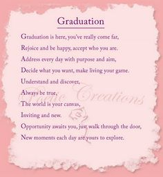 Poems For Graduating Daughters High School Graduation Poem Grad