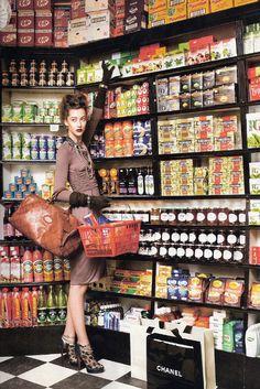 Grocery shopping on a lunch break.