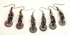 Set of Steampunk earrings. $8a set it $20 for all three.