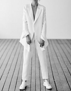 #White smart suits. #androgynous