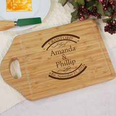 Personalized Engraved Established In Bamboo Cheese Carving Board