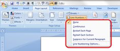 How to add line numbers to a Word document – the correct way #MSWord #MSOffice