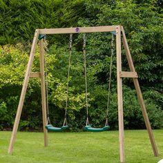 Plum 4 Piece Double Swing Set