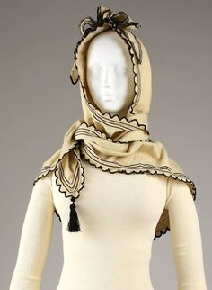 Scarf/hood combination, ca. 1860 | In the Swan's Shadow