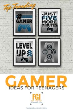 PIN TO share or save for later CLICK to view this and other great gamer designs :-) Feelgoodincuk.etsy.com Gamer - Teenage Bedroom - Kids Room - Game Room - Video Game Poster - Video Games - Man Cave #videogame