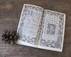 Antique Book Trio Green and Gold