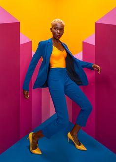 Yellow Fashion, Fashion Colours, Colorful Fashion, Fashion Poses, Fashion Shoot, Editorial Fashion, Fashion Portraits, Creative Fashion Photography, Colourful Photography