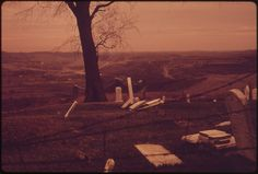 View of Strip Mined Land and Tipple from a Graveyard Off Route near Morristown, Ohio, and Steubenville. Still Picture, Photo Maps, National Archives, Ohio, The 100, United States, The Unit, Places, Columbus Ohio