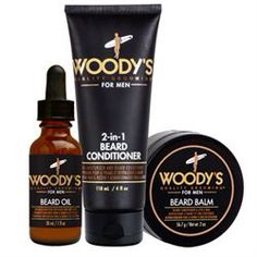 Father's Day Gift Ideas: Woody's Beard Products! Photographed: Beard Oil, Beard Balm and 2-in-1 Beard Conditioner. More products available in-store! #woodys #beardoil #shavesoap #beardconditioner #ohnine #alamobarber #sanantonio #texas #fathersday #giftideas