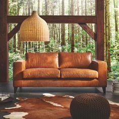 Sofa In Leder Henry Echtleder In Braun