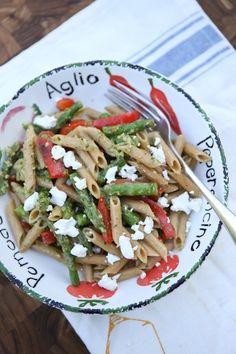Spring Vegetable Pasta with Pesto | | Aggie's Kitchen