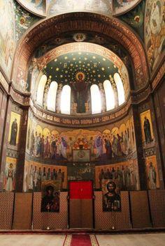 New Athos Monastery of St. Simon the Zealot.  Cathedral of St. Panteleimon the Healer, New Athos