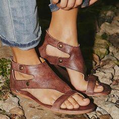 Never Let Me Down Gladiator Sandals
