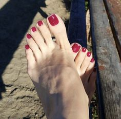 I don't need permission to rub my soft feet all over your face. Go ahead, test my limits. Nice Toes, Pretty Toes, Feet Soles, Women's Feet, Red Toenails, Long Toenails, Painted Toes, Foot Love, Soft Feet