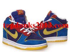 Charming SB High Top Mr Pacmen blue yellow 303050 471 Nike Dunk Kids 3d042a5e75ce