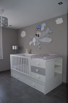 99 Modern Baby Room Themes Design Ideas - Baby Bed , 99 Modern Baby Room Themes Design Ideas - Nautical baby bedding will send your baby to sleep dreaming of his future sailing adventures. Baby Bedroom, Baby Boy Rooms, Baby Boy Nurseries, Baby Cribs, Nursery Room, Kids Bedroom, Nursery Ideas, Baby Beds, Room Ideas