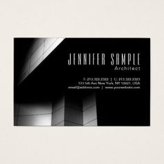 Architect Elegant Professional Luxury Architecture Business Card - create your own gifts personalize cyo custom