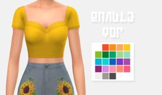 Bangle Top // another cc recolor Les Sims 4 Pc, Sims 4 Mm Cc, Sims Four, Sims 4 Mods Clothes, Sims 4 Clothing, Maxis, Sims 4 Cas, My Sims, Pelo Sims