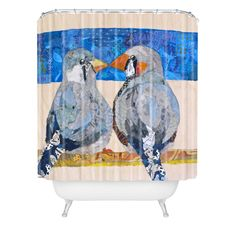 Elizabeth St Hilaire Nelson Finch 2 Finch Shower Curtain   DENY Designs Home Accessories