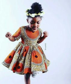 Ankara Xclusive: Latest Ankara Styles: Ankara Styles For Kids That Will Blow your Mind Ankara Styles For Kids, African Dresses For Kids, African Children, African Print Dresses, African Women, Girls Dresses, African Prints, African Clothes, African Babies