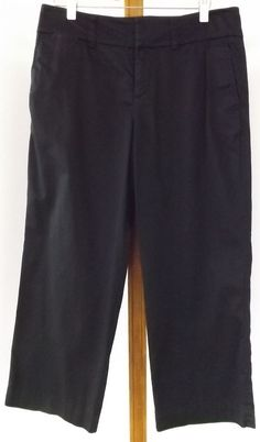 Eddie Bauer Capris Size 4 Mercer Fit Capri Pants Black Cropped #EddieBauer #CaprisCropped