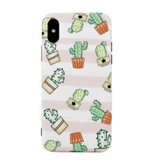 Shop Cactus Pattern iPhone Case at ROMWE, discover more fashion styles online. Iphone Wallpaper Cactus, Wallpapers Cactus, Wallpaper City, Wallpaper Aesthetic, Cute Wallpapers, Iphone Wallpapers, Cute Phone Cases, Iphone Cases, Cactus Pattern