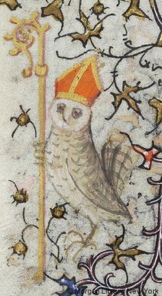 Owl as Bishop | Book of Hours | France, Paris | ca. 1420-1425 | The Morgan Library & Museum
