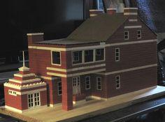 Bricks, Plastic, Mansions, American, House Styles, Home Decor, Facades, Games, Blue Prints
