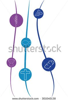 Symbols for the first communion - stock vector