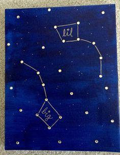 Simple craft for big little week! DIY sorority Big Dipper Little Dipper canvas.