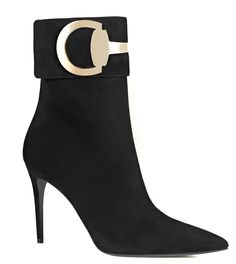 """Gucci Pre-Fall 2015 """"Rooney"""" suede ankle boot."""