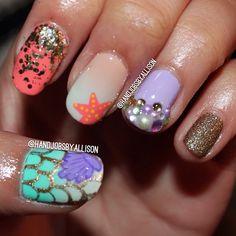 Mermaid nails .@handjobsbyallison
