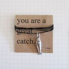 You Are A Great Catch Necklace, 12€, now featured on Fab.