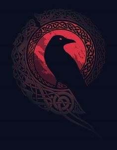 Raven with Viking/Celtic Designs