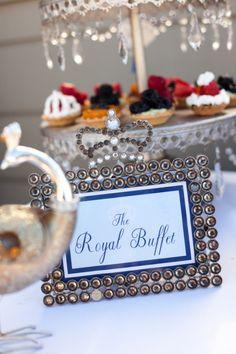a royal affair themed baby shower