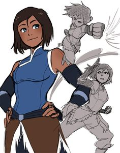 kellyykao: Late night Korra sketches