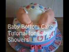 This baby bottom cake tutorial shows how to make a baby shower cake that is sure to impress. You may want to watch this video below first as it show how to m... Baby Shower Fall, Baby Shower Parties, Baby Boy Shower, Baby Showers, Baby Bottom Cake, Cake Baby, Baby Bump Cakes, Baby Girl Birthday, Birthday Cake