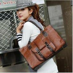 Retro fashion thick leather handbags Az2