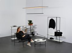 Egli Studio, working in collaboration with Matthieu Girel, designed a collection of graphic, black and white furnishings for open workspaces.
