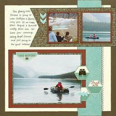 Close To My Heart - Jackson layout R page by Shelly Nemitz Vacation Scrapbook, Scrapbook Cards, Scrapbook Sketches, Scrapbook Page Layouts, Photo Layouts, Close To My Heart, Mini Books, Album, Heart Projects