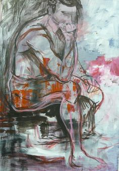 Espanjalainen ajattelija, akryyli, 70x100 cm (Katja Hynninen, 2013)