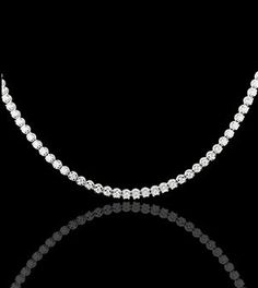 Silver and zircon riviere necklace. Find out more at https://www.facebook.com/miobilbaojoyas/