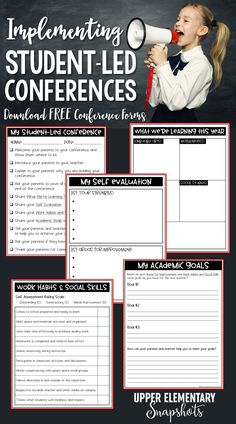 Implementing Student-Led Conferences Student-Led conferences are great way to get students to take ownership of their progress and goals. Check out th. Academic Writing Services, Academic Goals, Student Goals, Teacher Resources, Teaching Ideas, Teacher Freebies, Classroom Resources, Teaching Tools, Teaching Math