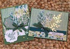 Leaf Cards, Stamping Up Cards, Fall Cards, Card Tutorials, Cards For Friends, Pretty Cards, Happy Birthday Cards, Folded Cards, Homemade Cards