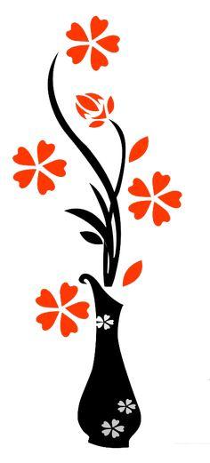 Wall Painting Flowers, Simple Wall Paintings, Wall Painting Decor, Home Decor Wall Art, Diy Painting, Stencil Art, Stencil Designs, Wall Art Designs, Paint Designs