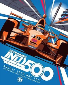 Chris Rathbone @R4THBONE Indy Car Racing, Indy Cars, Fernando Alonso Mclaren, Dodge Muscle Cars, Affinity Designer, Car Posters, Automotive Art, Car Painting, Retro Cars