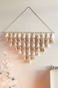 Tassel Bell Branch Wall Hanging - Urban Outfitters #boho #style #christmas
